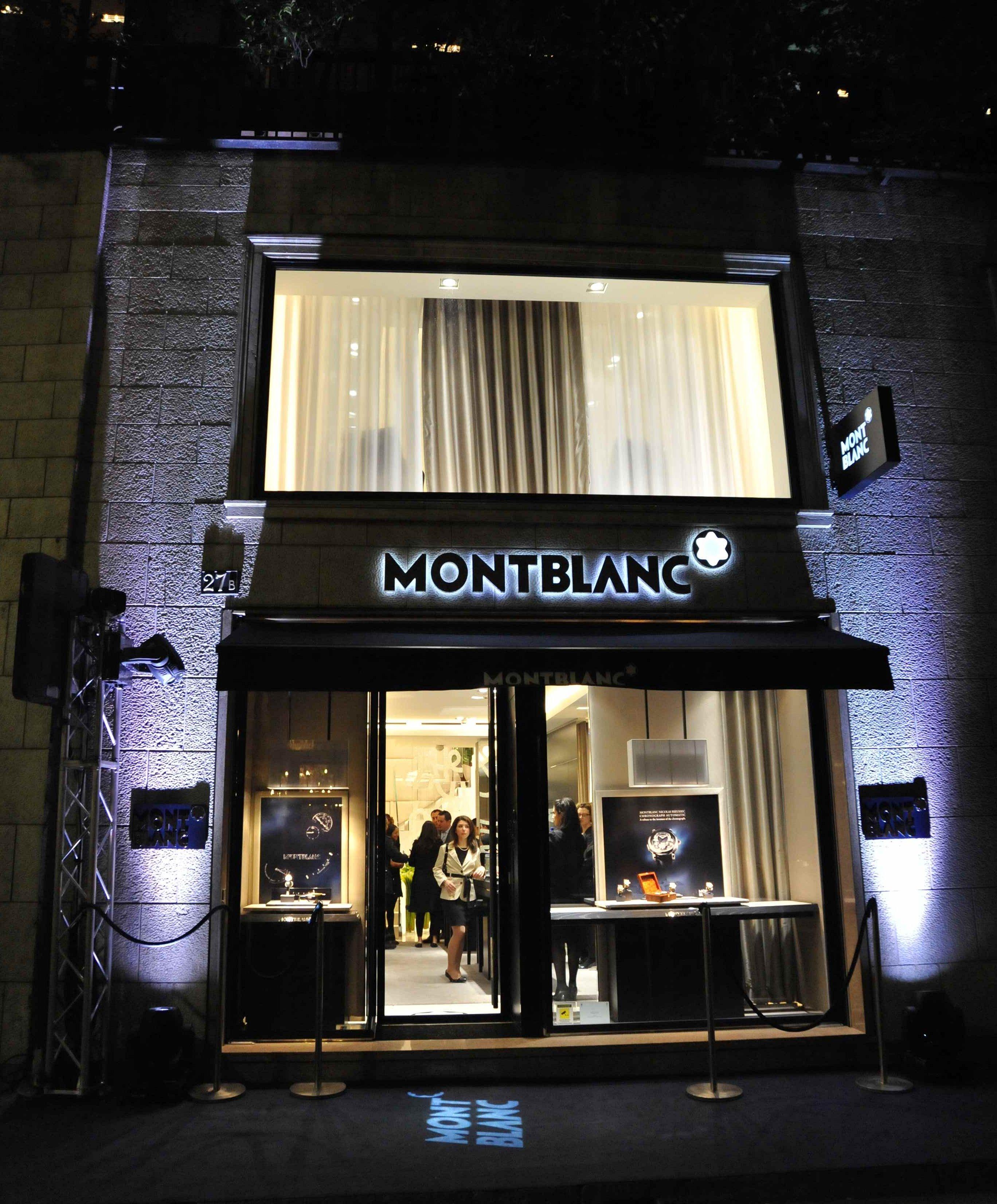 guest montblanc reopening in milan modaonlive. Black Bedroom Furniture Sets. Home Design Ideas